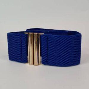 Пояс эластичный широкий синий