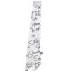 Шарф-лента с надписями белый
