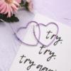 Серьги-сердечки фиолетовые
